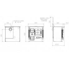 Dimensiones cocina de leña Hergom L-07 CH
