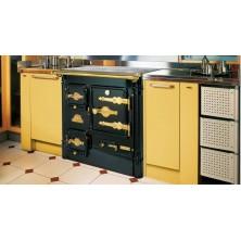 Cocina de leña abierta Hergom L-07 A encimera clásica