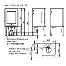 Dimensiones Jotul F 162